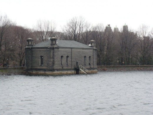 Reservoir at Central Park, Manhattan, NYC
