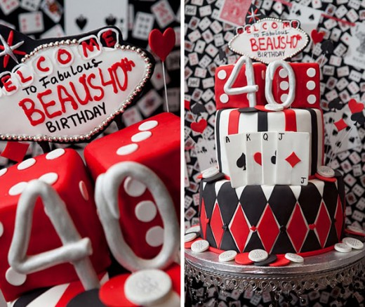 Speciality 40th birthday Vegas Theme cake is just one idea from many ...