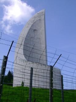 Close up of the memorial at Natzweiler-Struthof