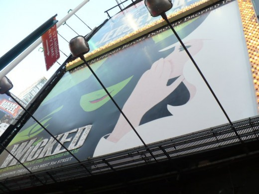 """Wicked"" billboard in Times Square, Manhattan, NYC"