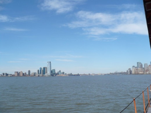 New York City as seen from the Staten Island Ferry