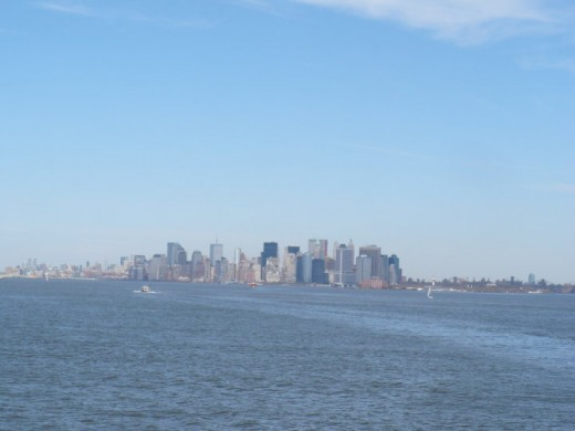 Lower Manhattan, New York City as seen from the Staten Island Ferry