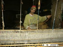 Fes's textile craftman.