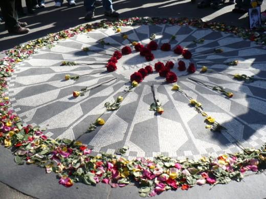 """Imagine"" mosaic, Strawberry Fields, Central Park, Manhattan, NYC"