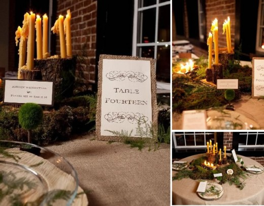 Our Favor with a Rustic Centerpiece This is ideal for the guest book table