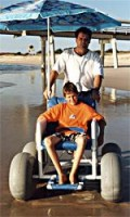 A beach buggy is a great gift for a disabled person & family