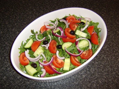Simple Mediterranean style salad