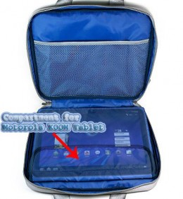 Blue Ultra Slim Edition Portable Protective Shoulder Carrying Cover Fitted Case For Verizon Motorola Xoom Tablet (Compatible with All Models)