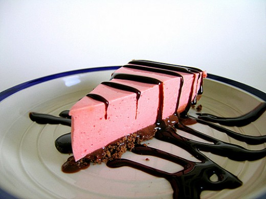 For a variation on the strawberry silk shortbread pie, use a chocolate crust and drizzle the pie with chocolate.