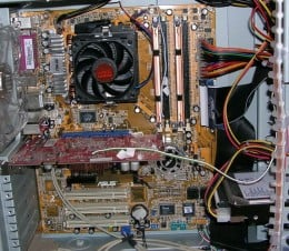The innards of a modern computer. It helps when you don't have to fit a CRT into the case!