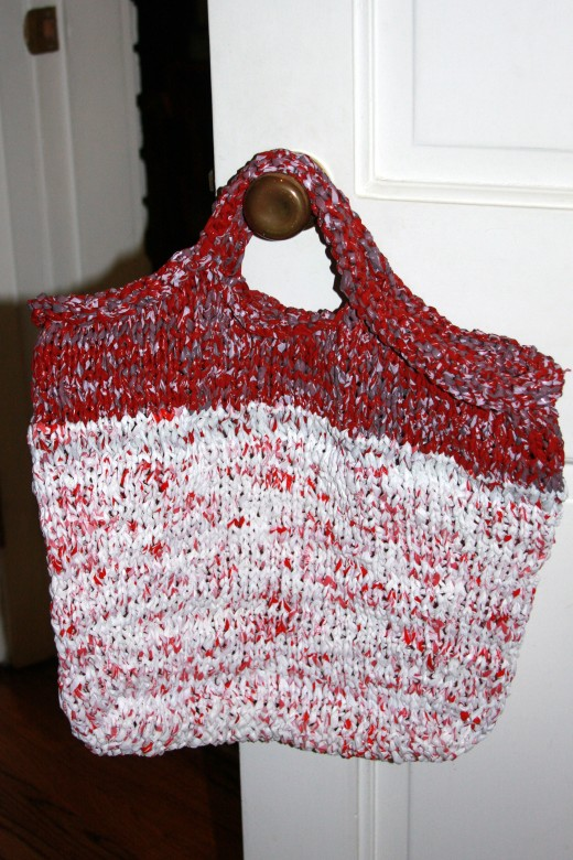 Made entirely from plastic Target bags
