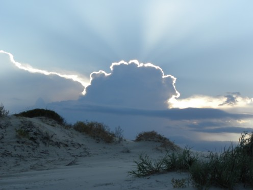 This is a photo I took at Jekyll island, GA.  The sky and clouds make me think of Heaven.