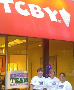 "Scooping Ice Cream with my ""Ya Ya Sisters"" in order to raise money and awareness for the Leukemia and Lymphoma Society"