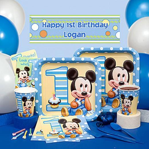 Disney Mickey's 1st Boy Birthday Party Supplies