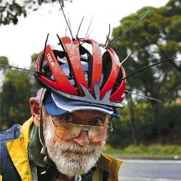 Aussie Bird Scarer Helmet - Magpie Deterant
