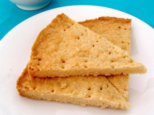End result: lavender shortbread cookies