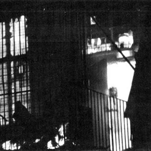 The classic photo of the girl ghost in the burning building. Was she the physical representitive of the flames that ravaged the building.