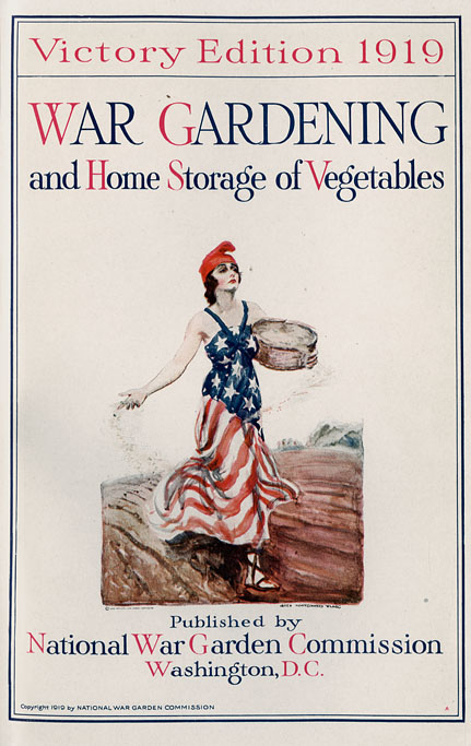 Cover of the 1919 War Gardening and Home Storage of Vegetables published by the National War Garden Commission in Washington, D.C.