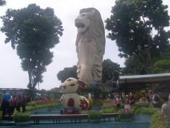 The Merlion on Sentosa Island