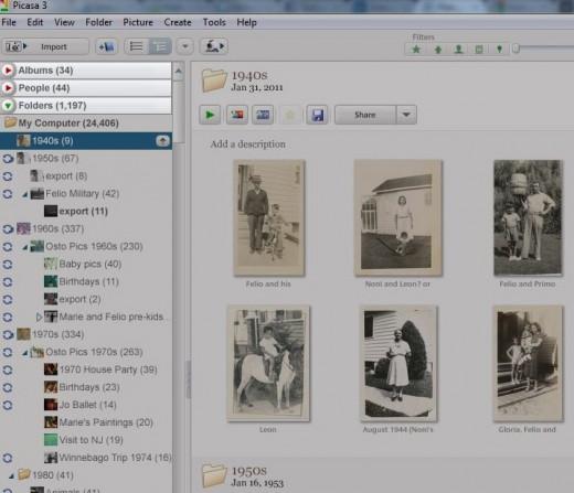 Picasa Albums-People-Folders