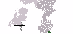 Map location of Vaals (Holset's municipality)