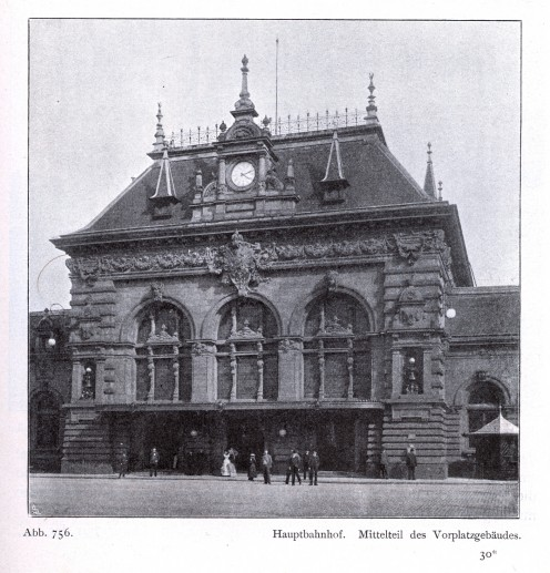 Duesseldorf's old 1891 central railroad station