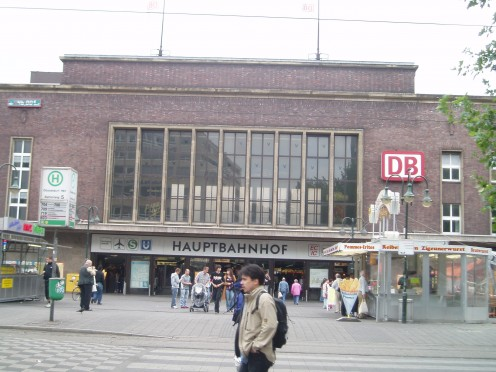 Duesseldorf's central railroad station, seen in 2005