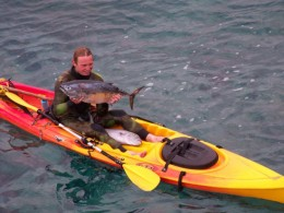 A man we saw ocean fishing