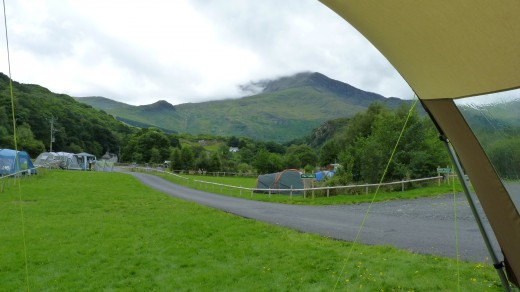 View from our tent retreat in Snowdonia.