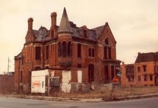 Detroit devastated by Americas manufacturing collapse.