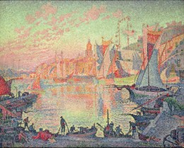 Paul Signac was a pointilist neo impressionist artist who also wrote. He was largely self taught. He was inspired the likes of Seurat and Monet, whose works he studied.