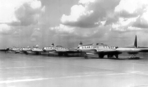Shooting Stars stationed at Myrtle Beach AFB in 1956