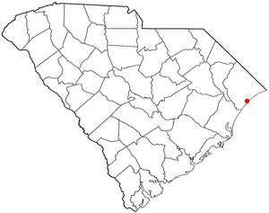 Map location of Myrtle Beach, South Carolina