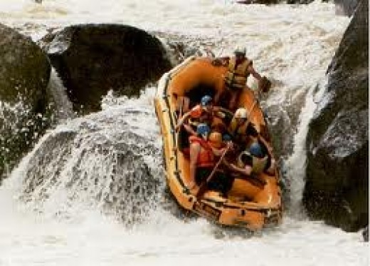 White water rafting in Sri Lanka is very popular among tourists