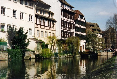 Half-Timbered Buildings in Strasbourg