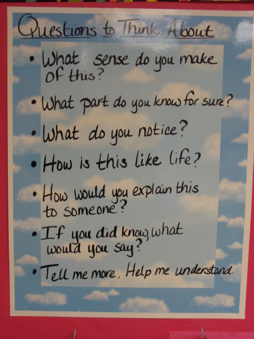 These are the questions that we use to guide our thinking.