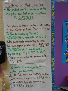 Our observations about patterns in mulitiplication.