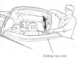 How to Fold the 1991-94 Mercury Capri Convertible Top