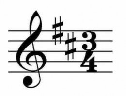 Time signature - The two numbers that indicate the number of beats per measure of a piece of music, given at the beginning of the first staff or system of staves, and whenever the number of beats changes.