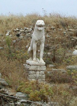 Laughing lion. An ancient statue, one of the lions of Delos. Photo by Adventurous Wench (flickr)