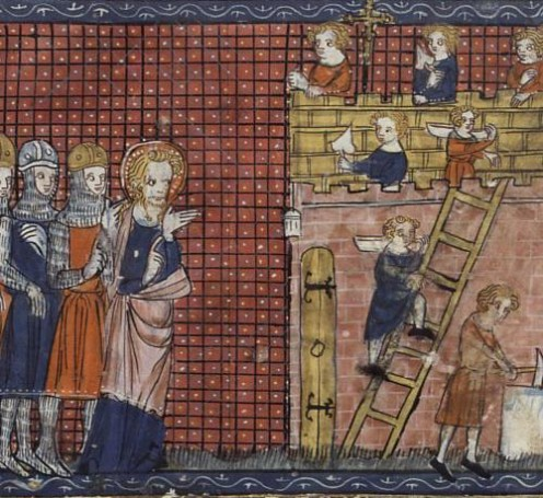 Source: http://saints.bestlatin.net/gallery/valentine_bnfms.htm Vies de saints, France, Paris, XIVe si Public domain ~ copyright expired. See: http://en.wikipedia.org/wiki/File:Valentineanddisciples.jpg