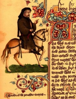 'The 'Ellesmere Chaucer', or 'Ellesmere Manuscript' is an early 15th century illuminated manuscript of Geoffrey Chaucer's Canterbury Tales, held in the Huntington Library, in San Marino, California' http://en.wikipedia.org/wiki/Ellesmere_manuscript P