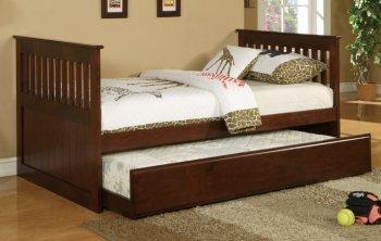 Dark Cherry Finish Wooden Furniture Set for Kids Bedroom Decoration