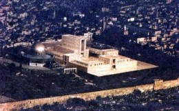 An artist's impression of the future (third) Jewish temple. Reference Rev 11:1-2