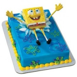 spongebob cakes and party supplies