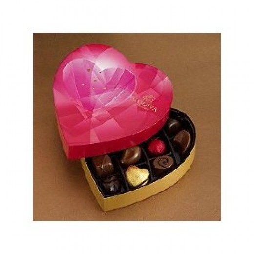 Godiva Chocolate to Spark Love On Valentines Day - Heart-felt assortment includes luscious pralins, rich ganaches, buttery caramels, fruits and nuts.