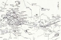 Situation map around Oct 10-12 1944. The combat area noted is to the far left.
