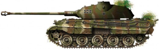 The PzVI Tiger 2 tank