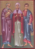 Icon of Philemon and Apphia with Archippus