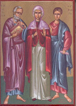 Icon of Philemon and Apphia with Archippus